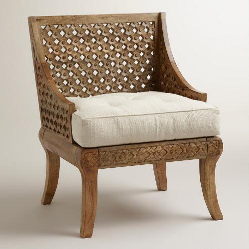 Tribal Carved Chair