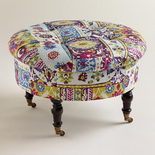 Round Istanbul Lucille Ottoman