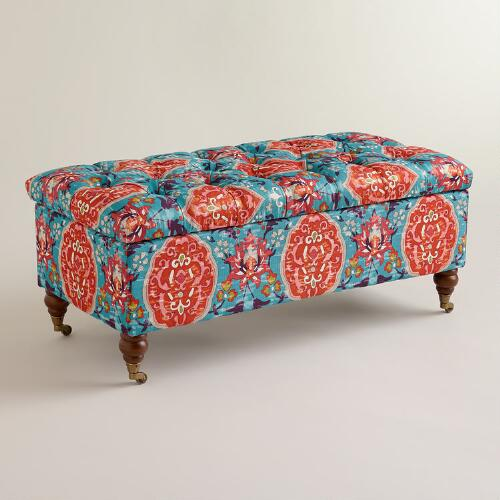 Rectangular Medallion Lucille Ottoman