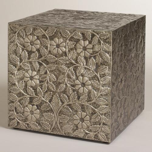 Embossed Damali Metal Cube