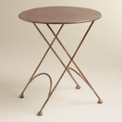 Round Ariana Metal Accent Table