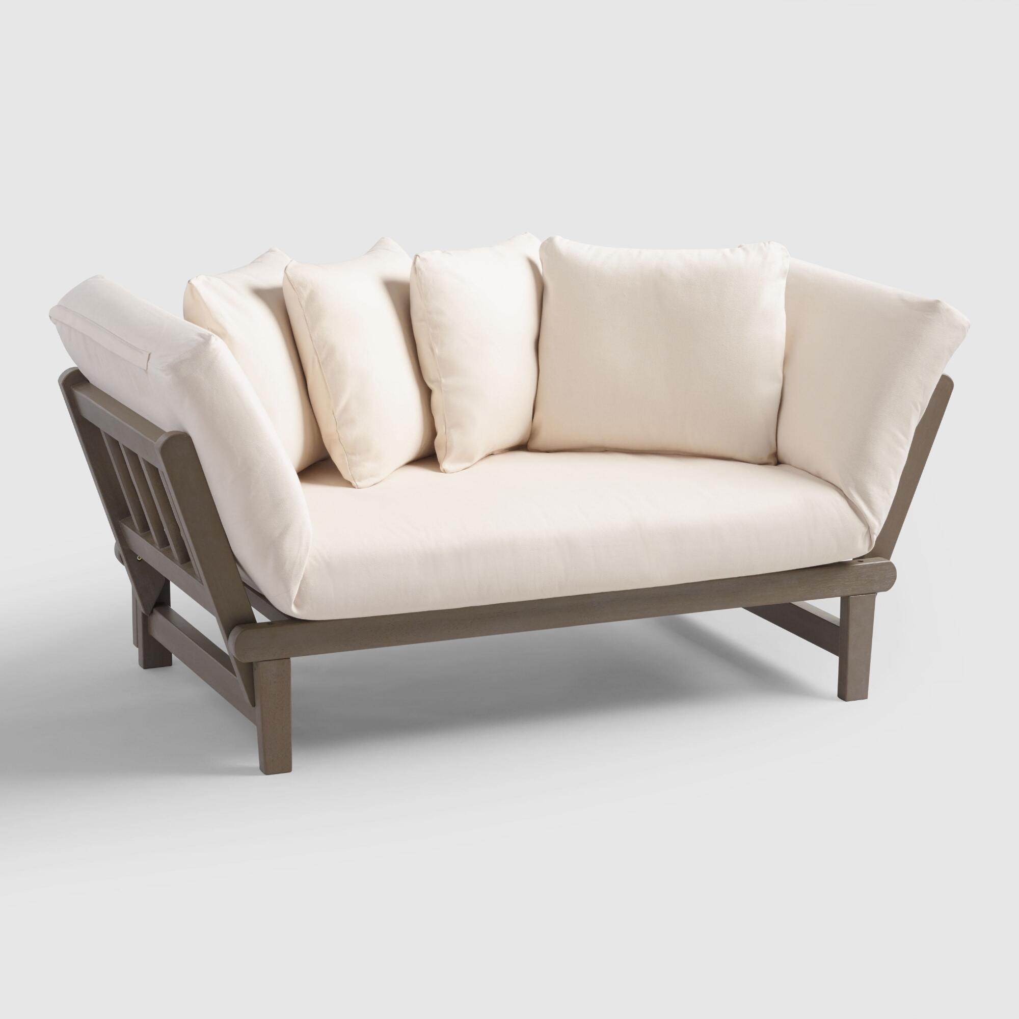 Graywash studio day sofa world market for Bedroom loveseat