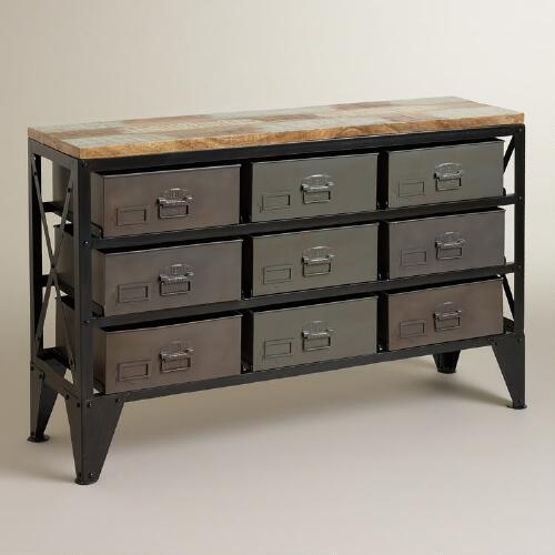 Zarina Metal Bin Console Table