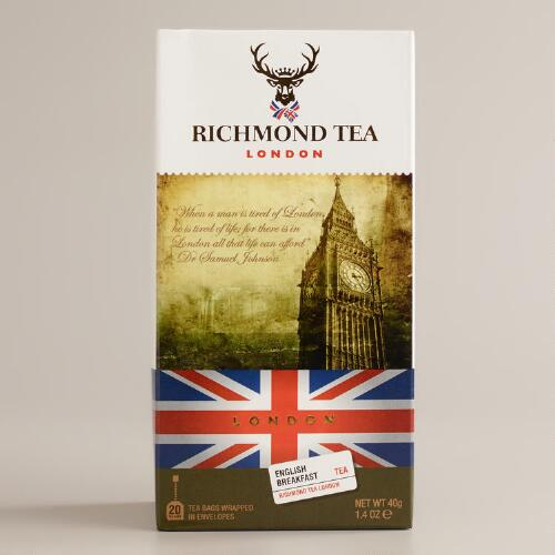 Richmond Tea Company English Breakfast Tea, 20-Count
