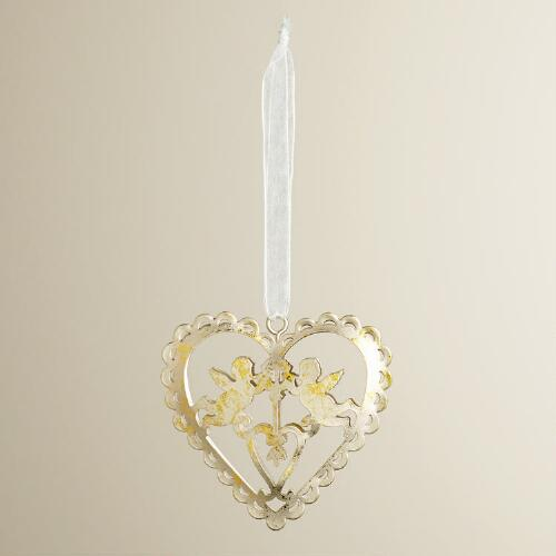 Valentine Metal Cutout Heart Ornament