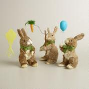 Natural Fiber Activity Bunnies, Set of 3