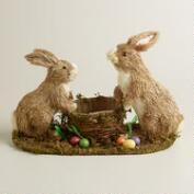 Natural Fiber Bunny Easter Basket