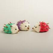 Natural Fiber Hedgehogs, Set of 3