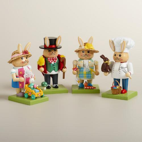 Bunny Nutcrackers, Set of 4