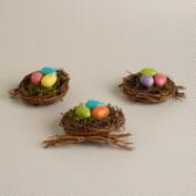 Speckled Egg Nests,  Set of 3