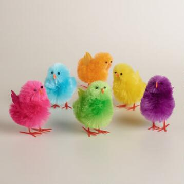 2-Piece Boxed Large Rayon Chicks, Set of 3