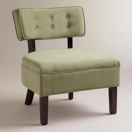 Spring Green Velvet Logan Chair