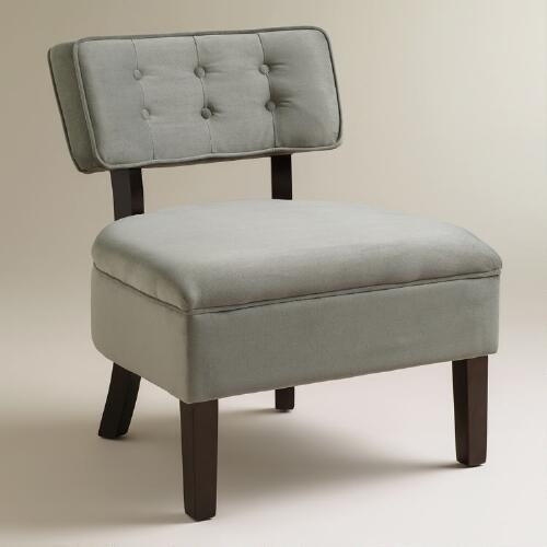Charcoal Velvet Logan Chair
