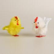 4-Piece Boxed Rayon Roosters, Set of 2