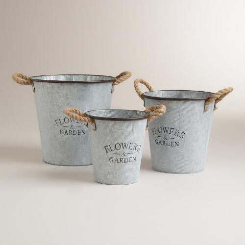 Metal Pail Decor