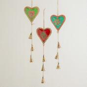 Metal Heart and Bell Mobiles, Set of 3
