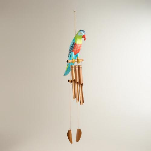 Wood Parrot Wind Chime