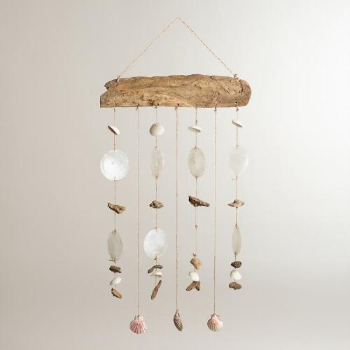 Driftwood and Capiz Mobile