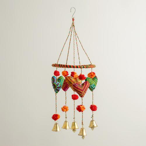Fabric Hearts Mobile