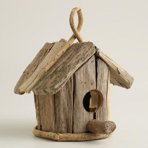 Driftwood Bird House Decor