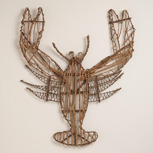 Twig Lobster Wall Decor