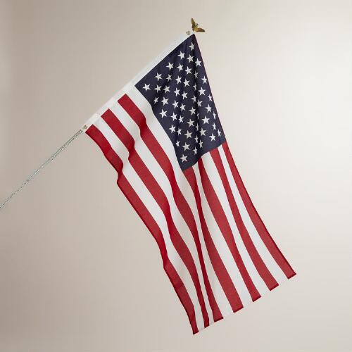 American Flag with Pole Kit