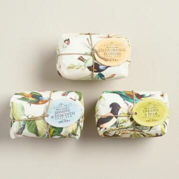 Castelbel Bird Print Scented Bar Soap Collection