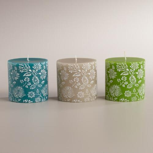 Small Bliss Bouquet Pillar Candles