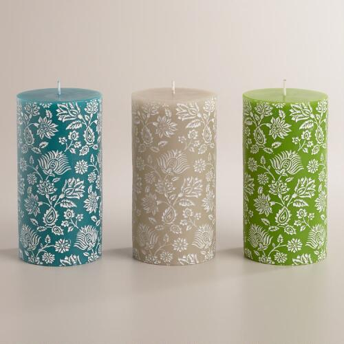 Large Bliss Bouquet Pillar Candles