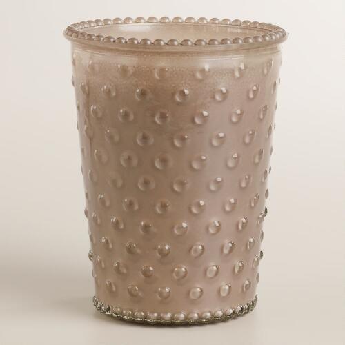 Gardenia Hobnail Filled Candle
