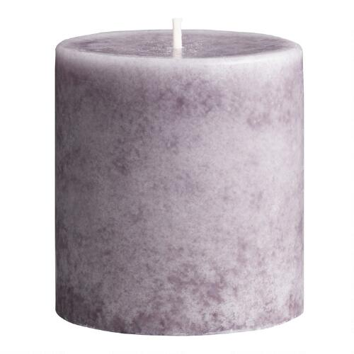 "3"" x 3"" Mottled Provence Lavender Pillar Candle"