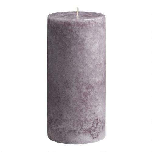 "3"" x 6"" Mottled Provence Lavender Pillar Candle"
