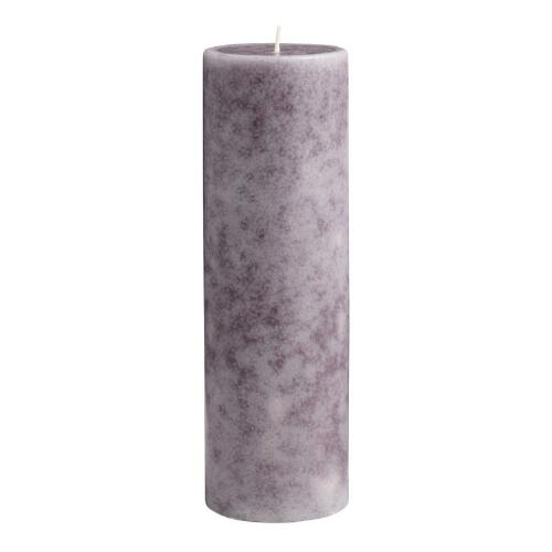 "3"" x 9"" Mottled Provence Lavender Pillar Candle"