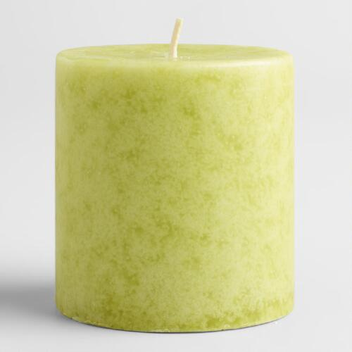 "3"" x 3"" Mottled Spanish Citrus Pillar Candle"