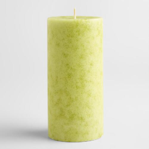 "3"" x 6"" Mottled Spanish Citrus Pillar Candle"