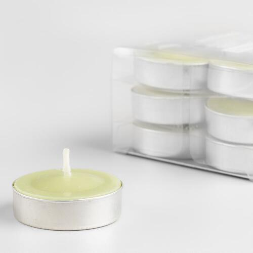 Spanish Citrus Tealight Candles, 12-Pack