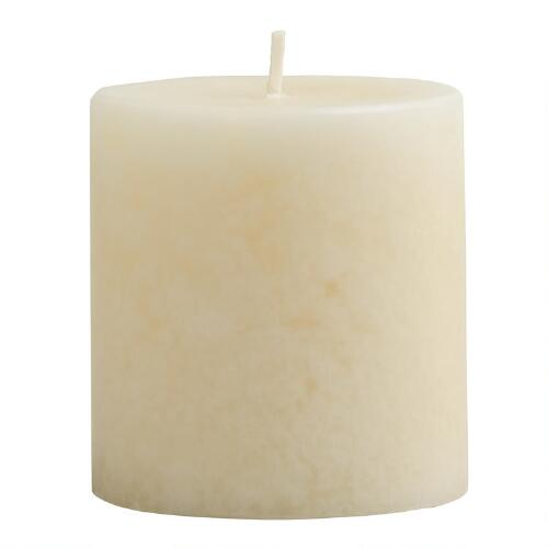 "3"" x 3"" Mottled Madagascar Vanilla Pillar Candle"