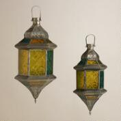 Cool Sabita Embossed Glass Hanging Lanterns