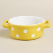 Mini Round Yellow Dots Baker
