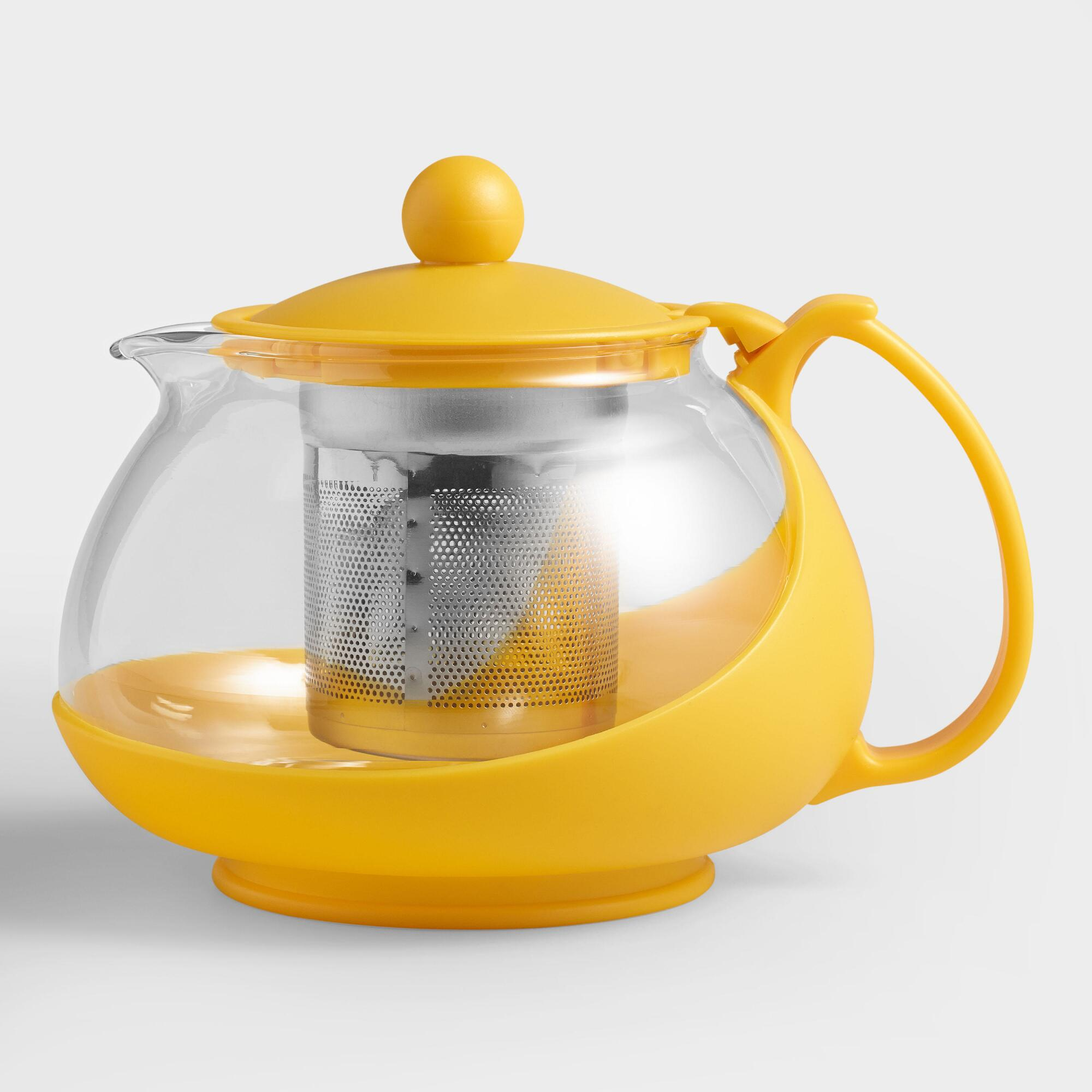 Yellow Glass Infuser Teapot World Market