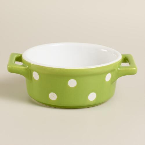 Mini Round Green Dots Baker