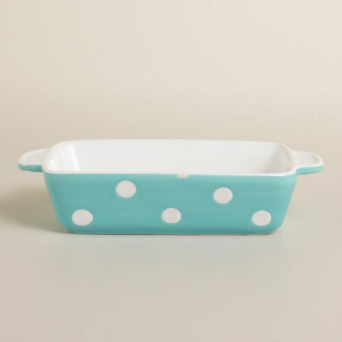 Mini Rectangular Aqua Dots Baker