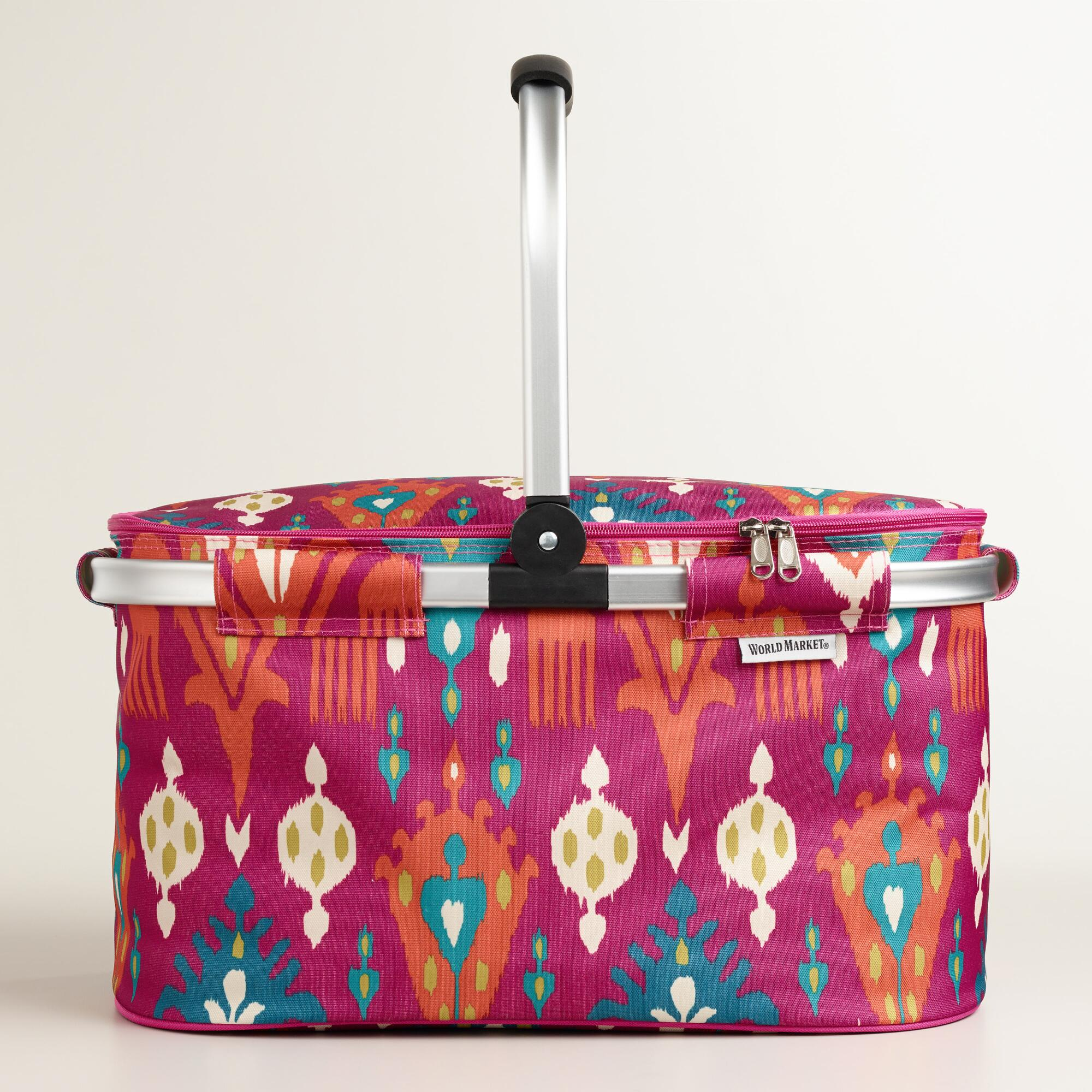 Pink aberdeen insulated collapsible tote world market for Furniture world aberdeen