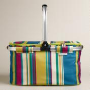 Thai Stripe Insulated Collapsible Tote