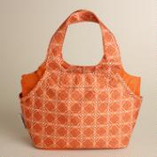 Orange Geo Print Jane Lunch Bag