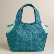 Blue Geo Print Jane Lunch Bag