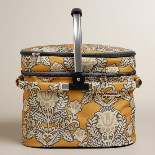 Goddess Print Insulated Double-Decker Tote Bag with Blanket
