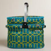 Window Print Insulated Double-Decker Tote Bag with Blanket
