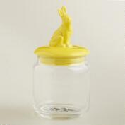 Yellow Easter Bunny Storage Jar