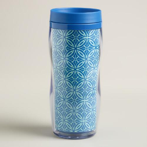 Blue Geo Insulated Tumbler